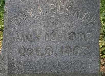 BECKER, ROY A. - Erie County, Ohio | ROY A. BECKER - Ohio Gravestone Photos