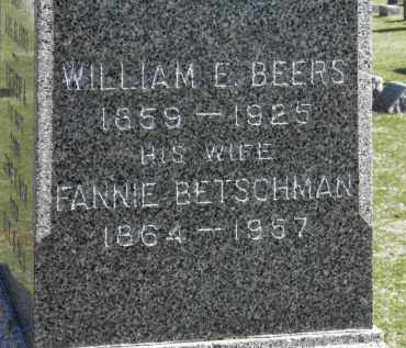 BEERS, FANNIE - Erie County, Ohio | FANNIE BEERS - Ohio Gravestone Photos