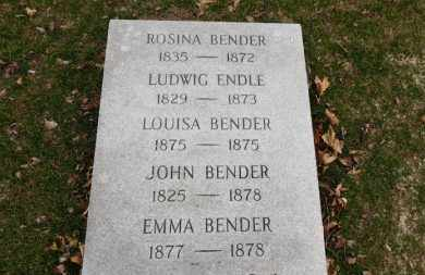 BENDER, JOHN - Erie County, Ohio | JOHN BENDER - Ohio Gravestone Photos