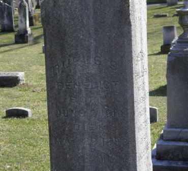 BENEDICT, RUFUS S. - Erie County, Ohio | RUFUS S. BENEDICT - Ohio Gravestone Photos