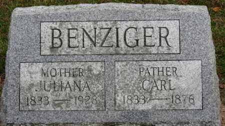 BENZIGER, JULIANA - Erie County, Ohio | JULIANA BENZIGER - Ohio Gravestone Photos