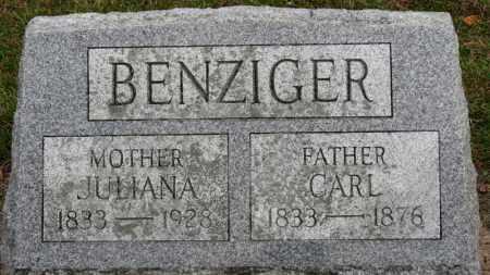 BENZIGER, CARL - Erie County, Ohio | CARL BENZIGER - Ohio Gravestone Photos