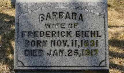 BIEHL, BARBARA - Erie County, Ohio | BARBARA BIEHL - Ohio Gravestone Photos