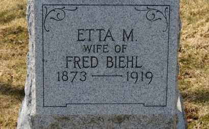 BIEHL, ETTA M. - Erie County, Ohio | ETTA M. BIEHL - Ohio Gravestone Photos