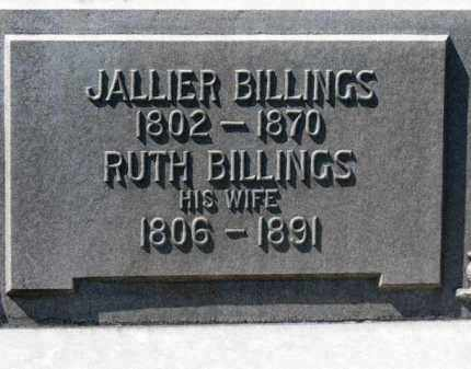 BILLINGS, JALLIER - Erie County, Ohio | JALLIER BILLINGS - Ohio Gravestone Photos