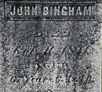 BINGHAM, JOHN - Erie County, Ohio | JOHN BINGHAM - Ohio Gravestone Photos