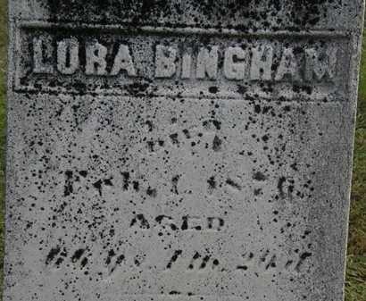 BINGHAM, LURA - Erie County, Ohio | LURA BINGHAM - Ohio Gravestone Photos