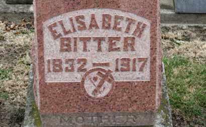 BITTER, ELISABETH - Erie County, Ohio | ELISABETH BITTER - Ohio Gravestone Photos