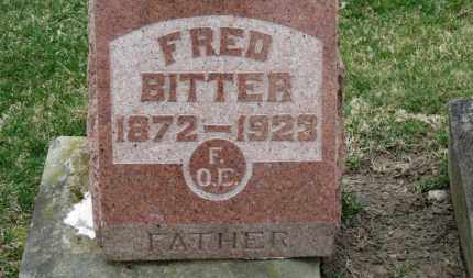 BITTER, FRED - Erie County, Ohio | FRED BITTER - Ohio Gravestone Photos