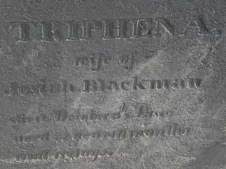BLACKMAN, TRIPHENA - Erie County, Ohio | TRIPHENA BLACKMAN - Ohio Gravestone Photos