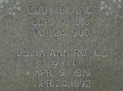 BLAKE, EDDY - Erie County, Ohio | EDDY BLAKE - Ohio Gravestone Photos