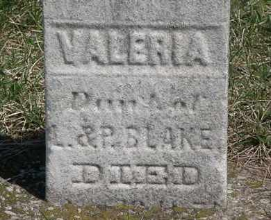 BLAKE, VALERIA - Erie County, Ohio | VALERIA BLAKE - Ohio Gravestone Photos