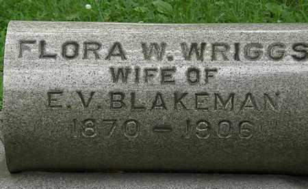 WRIGGS BLAKEMAN, FLORA W. - Erie County, Ohio | FLORA W. WRIGGS BLAKEMAN - Ohio Gravestone Photos