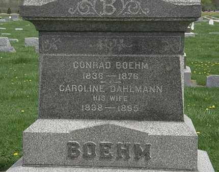BOEHM, CONRAD - Erie County, Ohio | CONRAD BOEHM - Ohio Gravestone Photos