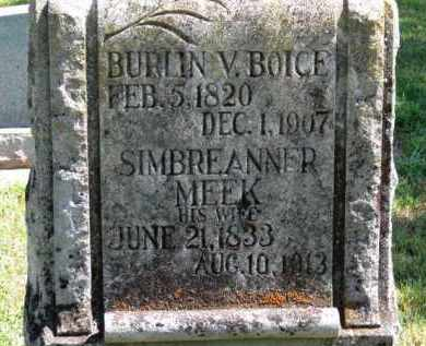MEEK BOICE, SIMBREANNER - Erie County, Ohio | SIMBREANNER MEEK BOICE - Ohio Gravestone Photos