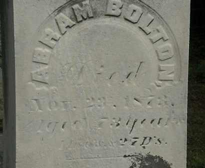 BOLTON, ABRAM - Erie County, Ohio | ABRAM BOLTON - Ohio Gravestone Photos
