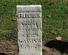 BONNER, FREDERICK - Erie County, Ohio | FREDERICK BONNER - Ohio Gravestone Photos