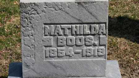 BOOS, MATHILDA - Erie County, Ohio   MATHILDA BOOS - Ohio Gravestone Photos