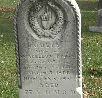 BOOTH, JULIA - Erie County, Ohio | JULIA BOOTH - Ohio Gravestone Photos
