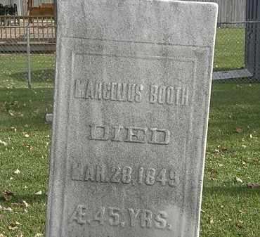 BOOTH, MARCELLUS - Erie County, Ohio   MARCELLUS BOOTH - Ohio Gravestone Photos