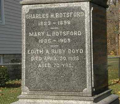 BOTSFORD, MARY L. - Erie County, Ohio | MARY L. BOTSFORD - Ohio Gravestone Photos