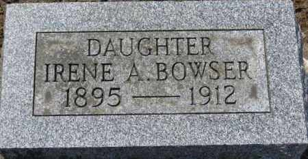 BOWSER, IRENE A. - Erie County, Ohio | IRENE A. BOWSER - Ohio Gravestone Photos