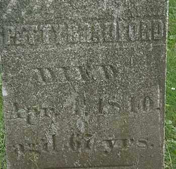 BRADFORD, PATTY - Erie County, Ohio | PATTY BRADFORD - Ohio Gravestone Photos