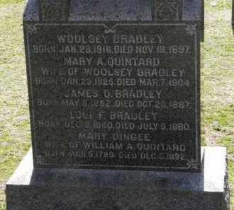 BRADLEY, WOOLSEY - Erie County, Ohio | WOOLSEY BRADLEY - Ohio Gravestone Photos
