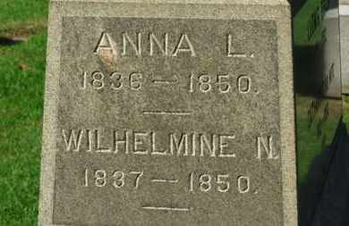 BRAUN, WILHELMINE N. - Erie County, Ohio | WILHELMINE N. BRAUN - Ohio Gravestone Photos