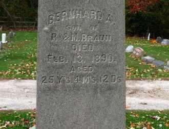 BRAUN, BERNHARD A. - Erie County, Ohio | BERNHARD A. BRAUN - Ohio Gravestone Photos