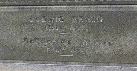 BRAUN, LUDWIG - Erie County, Ohio | LUDWIG BRAUN - Ohio Gravestone Photos