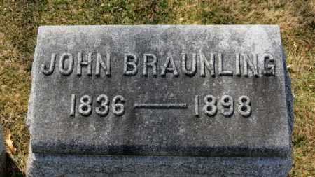 BRAUNLING, JOHN - Erie County, Ohio | JOHN BRAUNLING - Ohio Gravestone Photos