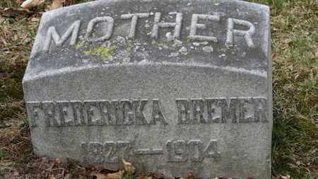 BREMER, FREDERICKA - Erie County, Ohio | FREDERICKA BREMER - Ohio Gravestone Photos