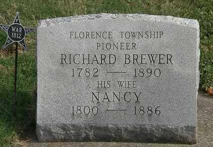 BREWER, NANCY - Erie County, Ohio | NANCY BREWER - Ohio Gravestone Photos
