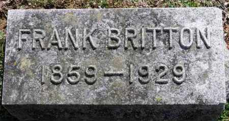 BRITTON, FRANK - Erie County, Ohio | FRANK BRITTON - Ohio Gravestone Photos