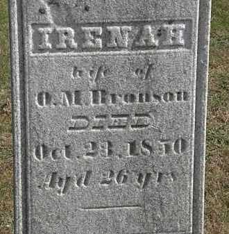 BRONSON, IRENAH - Erie County, Ohio | IRENAH BRONSON - Ohio Gravestone Photos