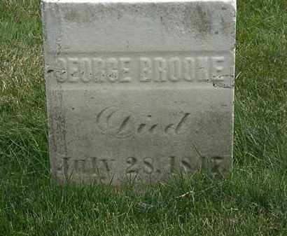 BROOKE, GEORGE - Erie County, Ohio | GEORGE BROOKE - Ohio Gravestone Photos