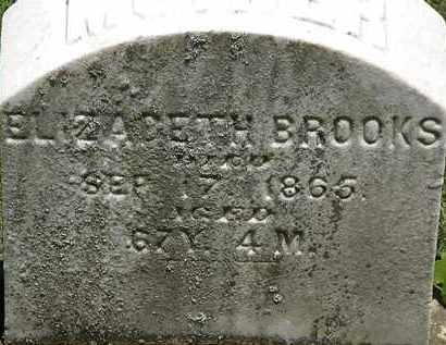 BROOKS, ELIZABETH - Erie County, Ohio | ELIZABETH BROOKS - Ohio Gravestone Photos
