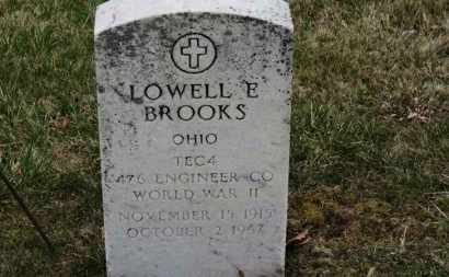 BROOKS, LOWELL E. - Erie County, Ohio | LOWELL E. BROOKS - Ohio Gravestone Photos