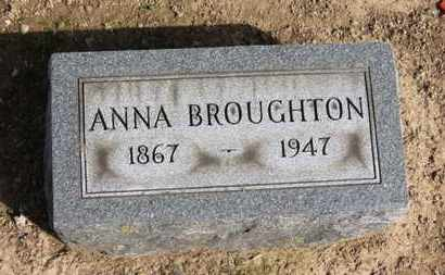 BROUGHTON, ANNA - Erie County, Ohio | ANNA BROUGHTON - Ohio Gravestone Photos