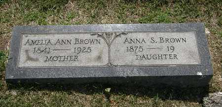 BROWN, ANNA S. - Erie County, Ohio | ANNA S. BROWN - Ohio Gravestone Photos