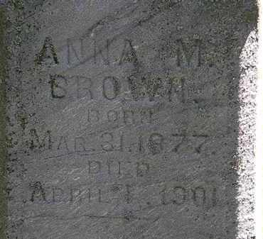 BROWN, ANNA M. - Erie County, Ohio | ANNA M. BROWN - Ohio Gravestone Photos