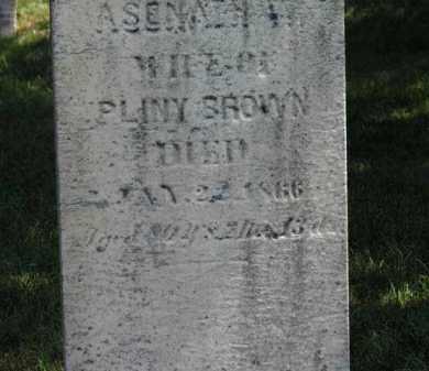 BROWN, ASENATH - Erie County, Ohio | ASENATH BROWN - Ohio Gravestone Photos