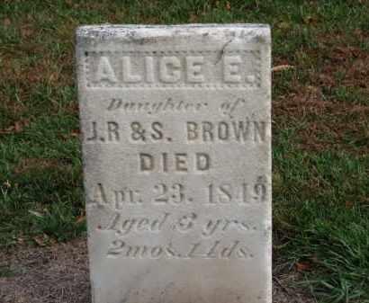 BROWN, ALICE E. - Erie County, Ohio | ALICE E. BROWN - Ohio Gravestone Photos