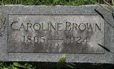 BROWN, CAROLINE - Erie County, Ohio | CAROLINE BROWN - Ohio Gravestone Photos