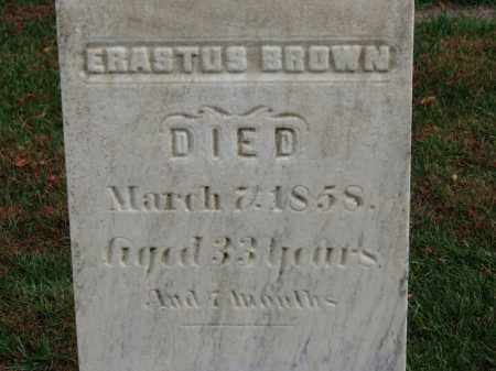 BROWN, ERASTUS - Erie County, Ohio | ERASTUS BROWN - Ohio Gravestone Photos