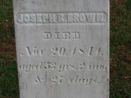 BROWN, JOSEPH R. - Erie County, Ohio | JOSEPH R. BROWN - Ohio Gravestone Photos