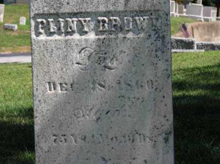 BROWN, PLINY - Erie County, Ohio | PLINY BROWN - Ohio Gravestone Photos