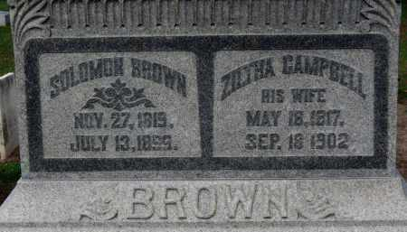 CAMPBELL BROWN, ZILTHA - Erie County, Ohio | ZILTHA CAMPBELL BROWN - Ohio Gravestone Photos
