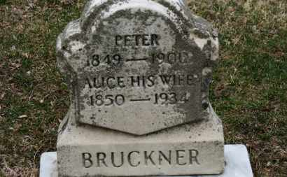 BRUCKNER, PETER - Erie County, Ohio | PETER BRUCKNER - Ohio Gravestone Photos